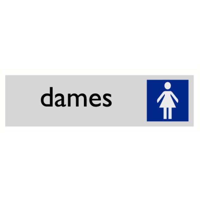 Pikt-o-Norm Pictogram tekst toilet dames