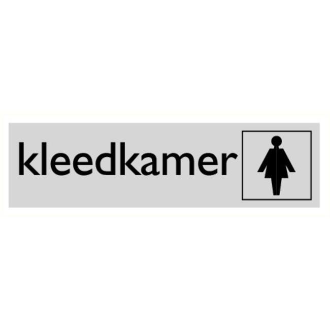 Pikt-o-Norm Pictogram tekst kleedkamer dames