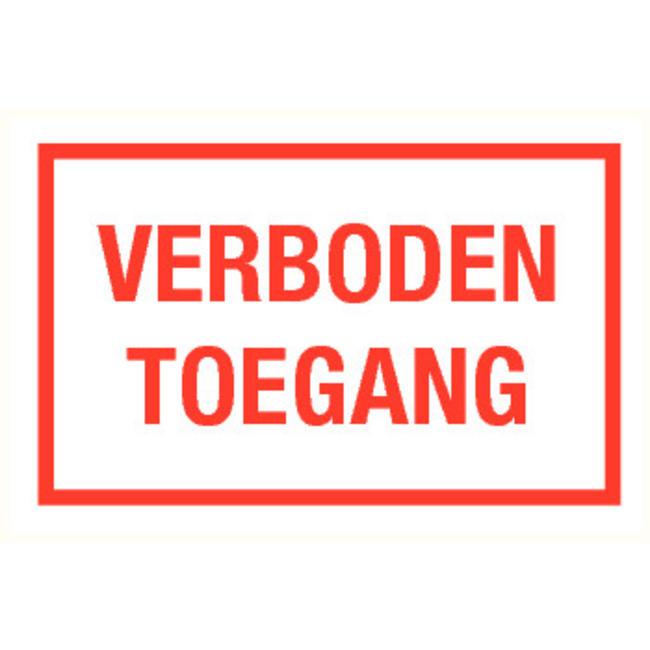 Pikt-o-Norm Pictogram tekst verboden toegang
