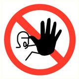 Veiligheidspictogram verboden toegang voor onbevoegden