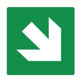 Pictogram pijl groen schuin