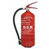 Poederbrandblusser voor voertuigen 6kg met BENOR V-label (ABC) permanente druk