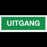 Veiligheidspictogram uitgang (tekst) PVC