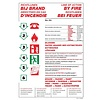 Brandbeveiligingshop Pictogram richtlijnen bij brand 4 talen