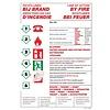 Brandbeveiligingshop Veiligheidspictogram richtlijnen bij brand 4 talen