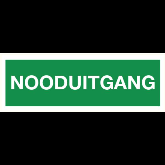 Brandbeveiligingshop Pictogram nooduitgang (tekst) PVC