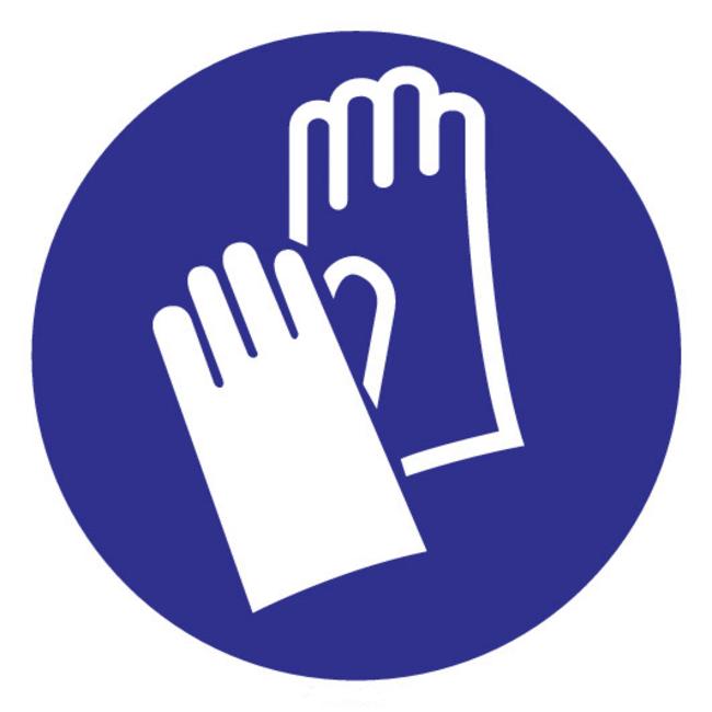 Brandbeveiligingshop Gebodsteken handschoenen verplicht