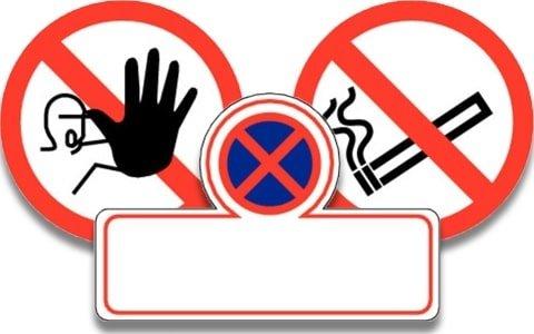 Pictogrammen verboden