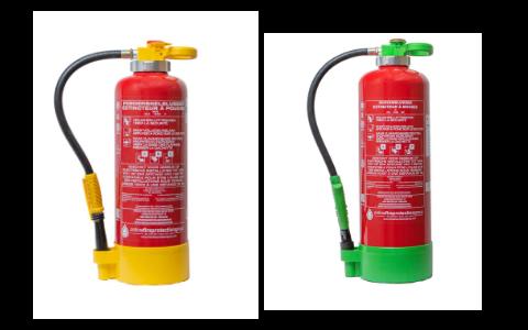 Brandblussers met drukpatroon