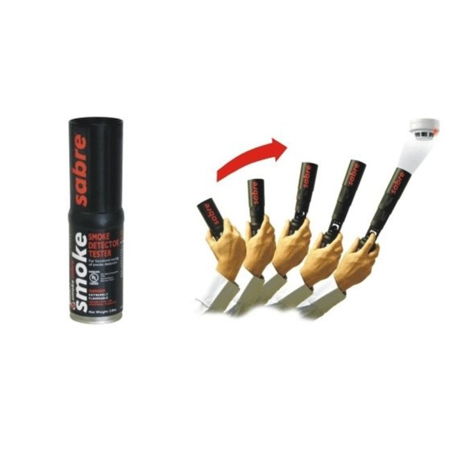 Solo Detector Testers Smoke Sabre rookmelder test spray met aerosol