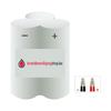 Brandbeveiligingshop NiCd 3.6V noodverlichting accu driehoek