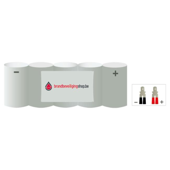 Brandbeveiligingshop NiCd 6.0V /1500 mAh Sub C-cel noodverlichting accu block