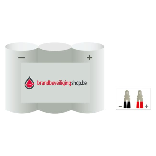 Brandbeveiligingshop NiMh 3.6V / 1300 mAh AA-cel noodverlichting accu block