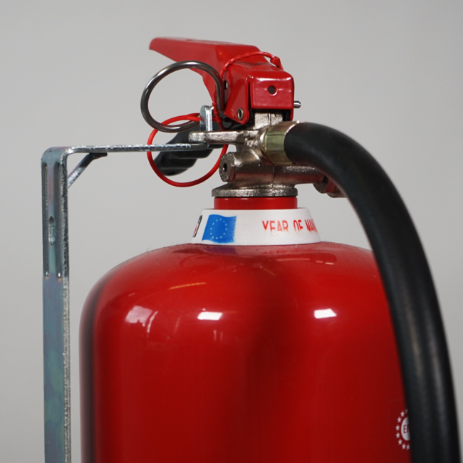 Brandbeveiligingshop Muurbeugel metaal brandblusser 6kg/l permanente druk