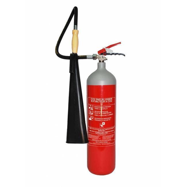 Brandbeveiligingshop CO2-brandblusser 5kg staal met BENOR-label (B) permanente druk