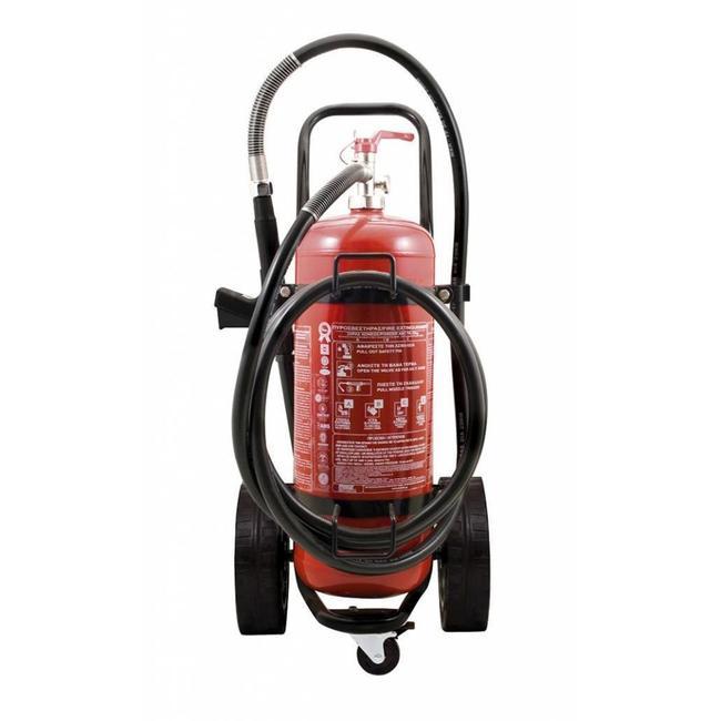 Brandbeveiligingshop Bluswagen poeder 25kg (ABC) permanente druk