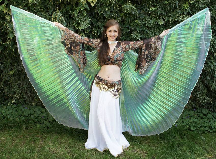 Organza Isis wings white