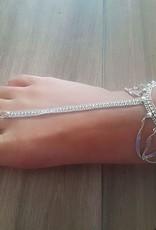 Fußrückenschmuck mit verstellbarem Ring