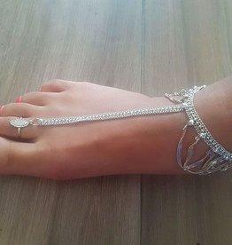 Ankle / foot bracelet silver