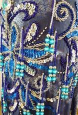 Sakkara Bauchtanzrock 'Amra' in jeansblau