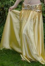 Light gold satin skirt