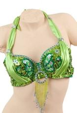 """Bra """"peacock"""" in green"""
