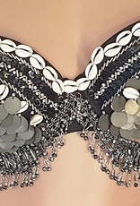Tribal bra with real shells and coins