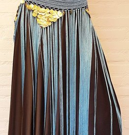 Hip scarf wth long fringes