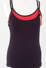 Sakkara Doppel shirt schwarz rot