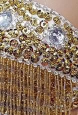 BH bestickt mit silbernen und goldenen Elementen