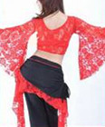 Lace Top red with trumpet arms