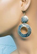 Ohrringe im orientalischen Design in Altsilber