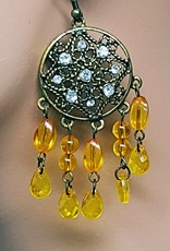 chandelier earrings with amber stones