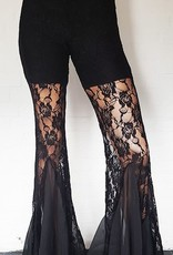 Black belly dance pants with lace