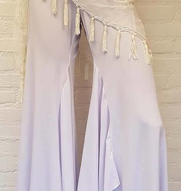 White  bell bottom belly dance pants