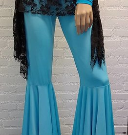 Bell bottom pants turquoise