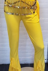 Yellow belly dance pants