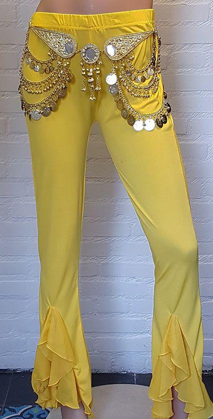Bauchtanz Hose in gelb