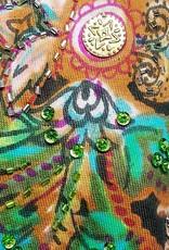 Ärmelloses Flowerprint-Shirt braun-meliert