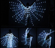 Isis wings weiß led light