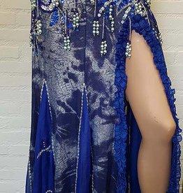 "Belly dance skirt ""Amsra"" in jeansblue"