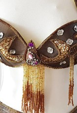 Brown belly dance costume