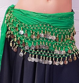 Hip scarf green gold