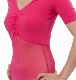 body with fine mesh in fuchsia