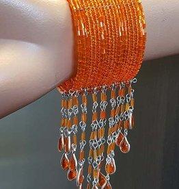 Bracelet with orange beads