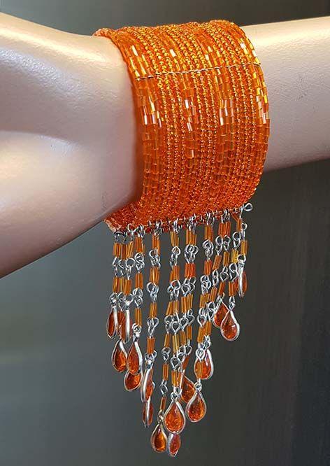 Sakkara Armreif orange