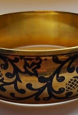 Gold bracelet with ornamental painting