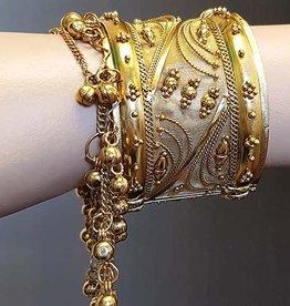 Gold bracelet  with bells