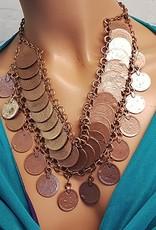 Tribal-Halskette kupfer, nickelfrei