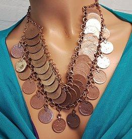 Tribal-Halskette kupfer